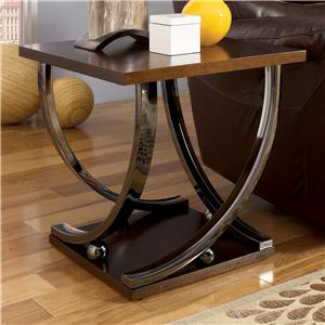 Signature Design by Ashley Rollins Square End Table