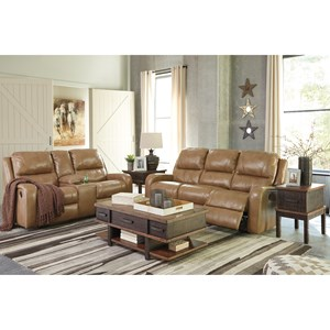 Signature Design by Ashley Roogan Power Reclining Living Room Group