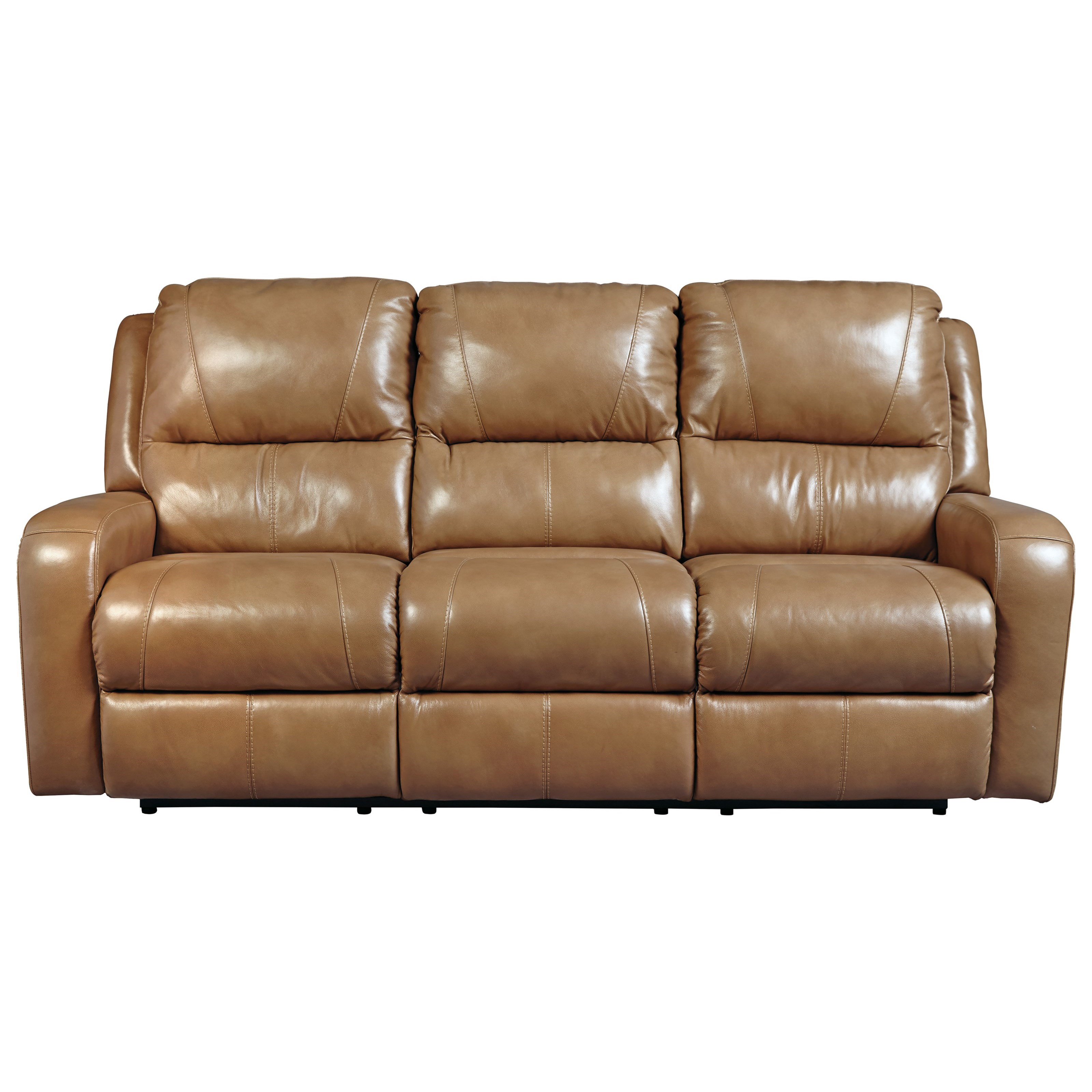 Signature Design By Ashley Roogan Contemporary Reclining Sofa With Padded Track Arms Wayside