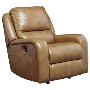 Signature Design by Ashley Roogan Power Rocker Recliner