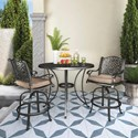 Signature Design by Ashley Rose View Outdoor Bistro Set - Item Number: P559-130+P456-613