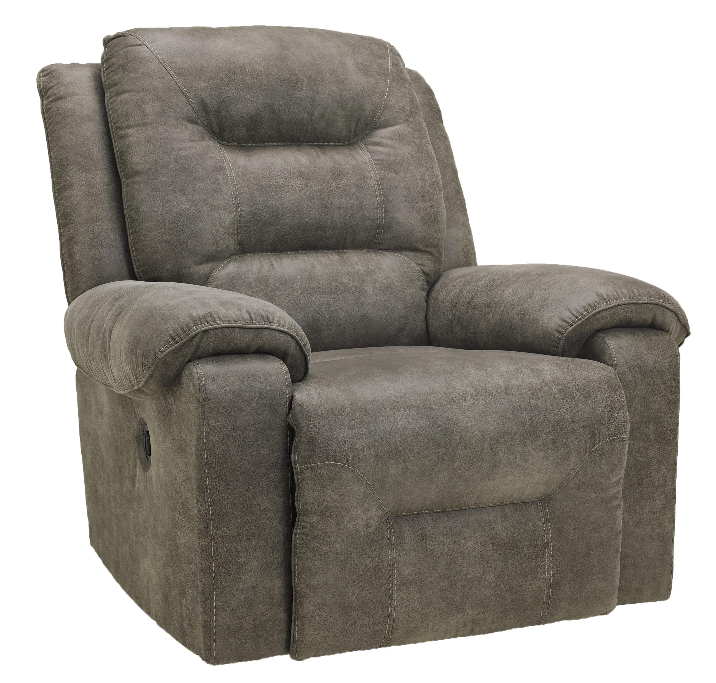 Signature Design by Ashley Rotation - Smoke Rocker Recliner - Item Number: 9750125
