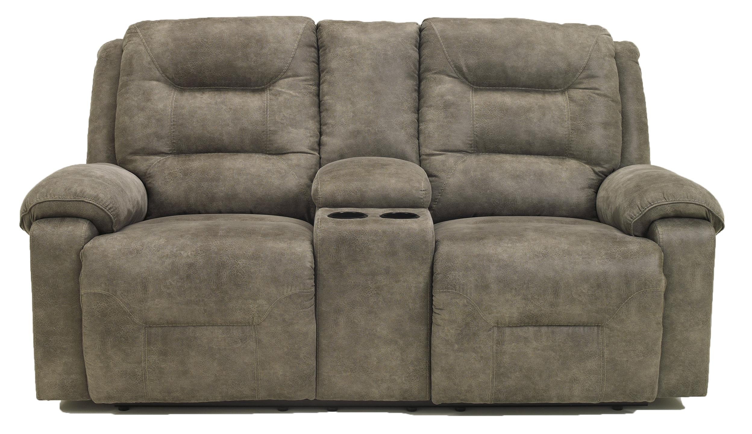 Signature Design by Ashley Rotation - Smoke Power Reclining Loveseat w/Console - Item Number: 9750196
