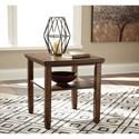 Signature Design by Ashley Royard Rustic Rectangular End Table