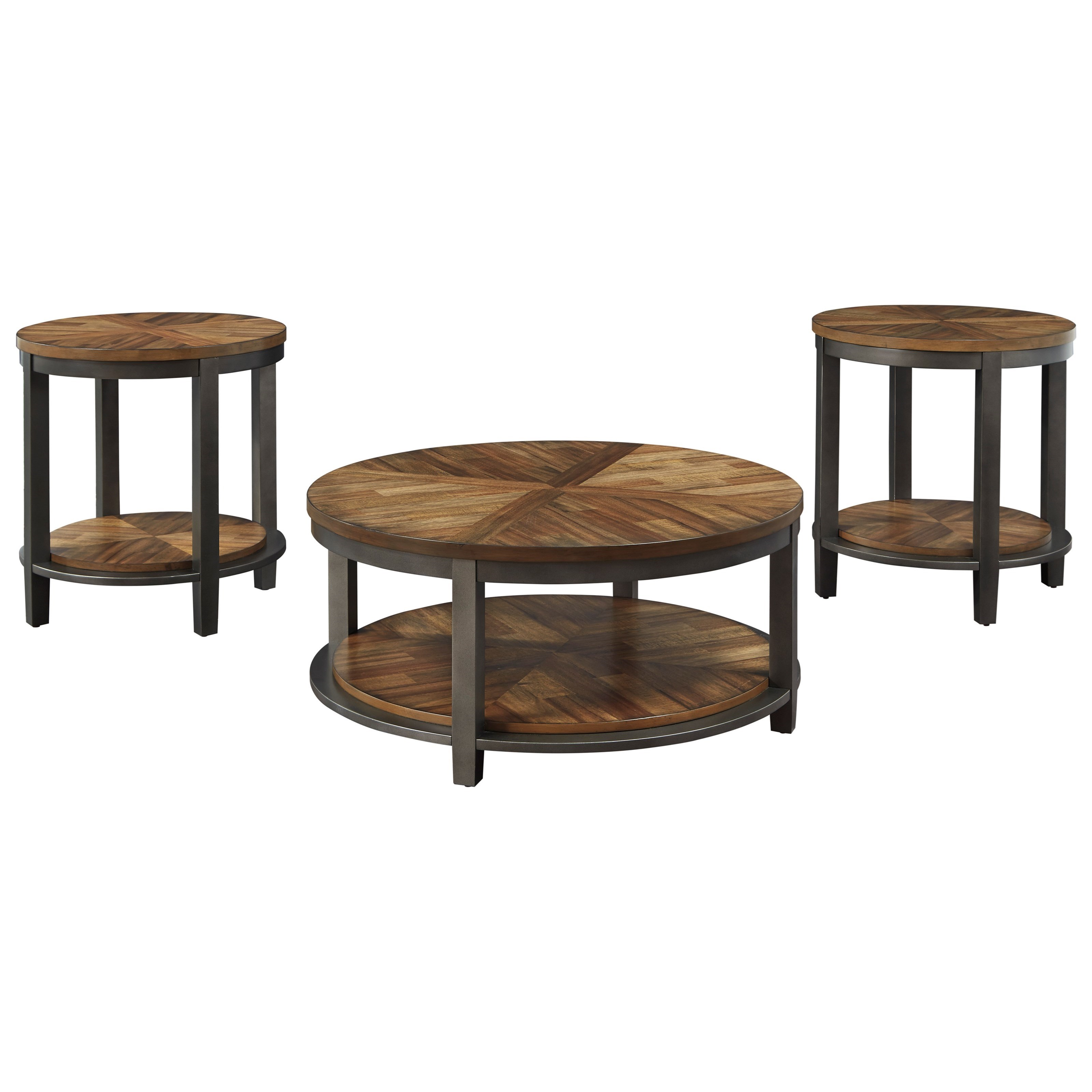 sports shoes 459e7 3f74b COVE Rustic Occasional Table Set by StyleLine at EFO Furniture Outlet