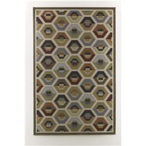 Ashley Signature Design Contemporary Area Rugs Hannin - Multi Medium Rug