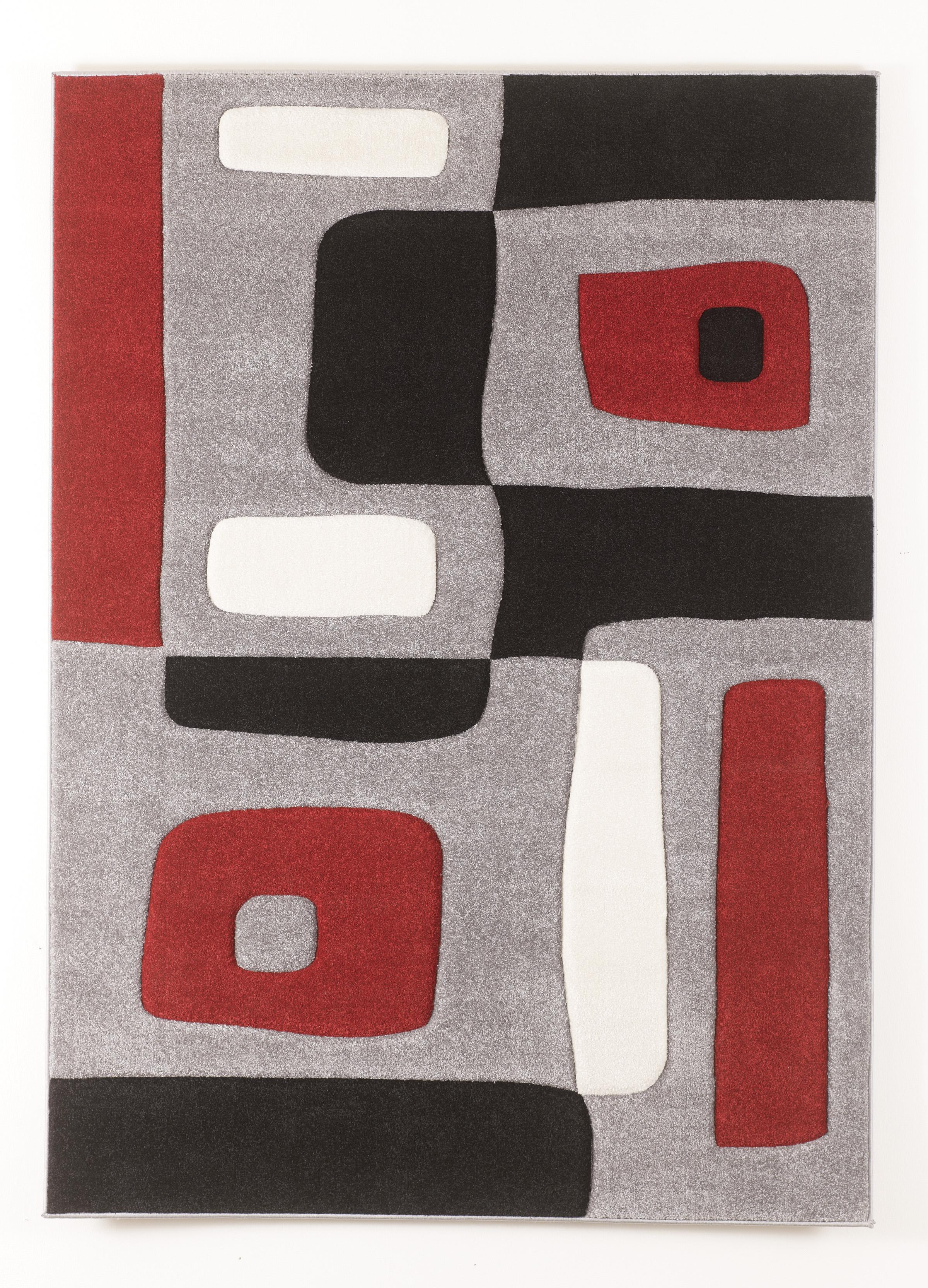 Signature Design by Ashley Contemporary Area Rugs Geo - Red Medium Rug - Item Number: R317002