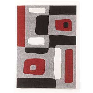 Signature Design by Ashley Furniture Contemporary Area Rugs Geo - Red Medium Rug