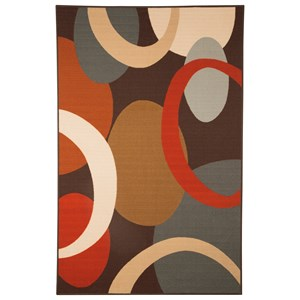 Ashley Signature Design Contemporary Area Rugs Acciai Brown/Blue Medium Rug