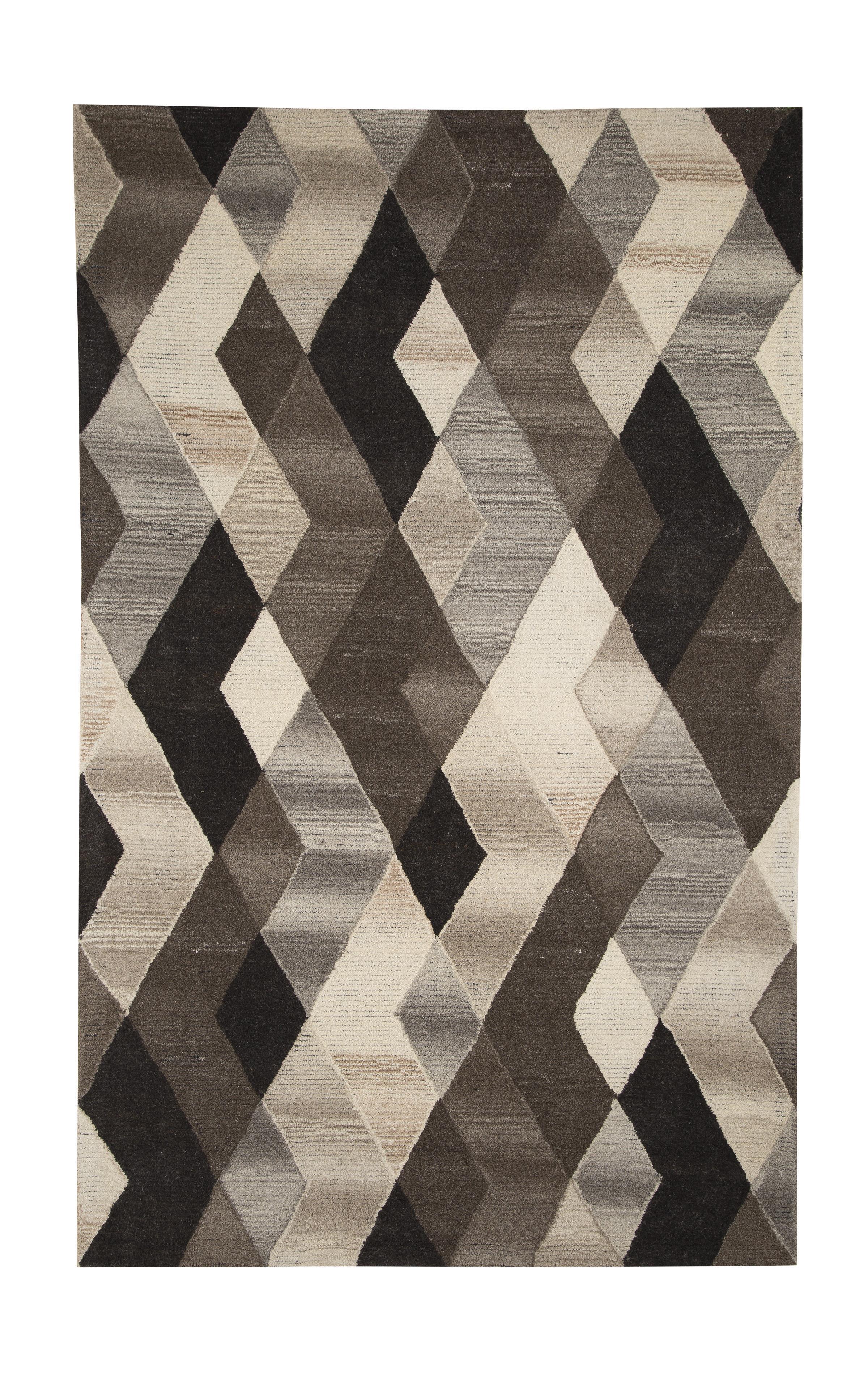Signature Design by Ashley Contemporary Area Rugs Scoggins Black/White Medium Rug - Item Number: R400232