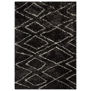 Signature Design by Ashley Furniture Contemporary Area Rugs Deryn Black/White Large Rug