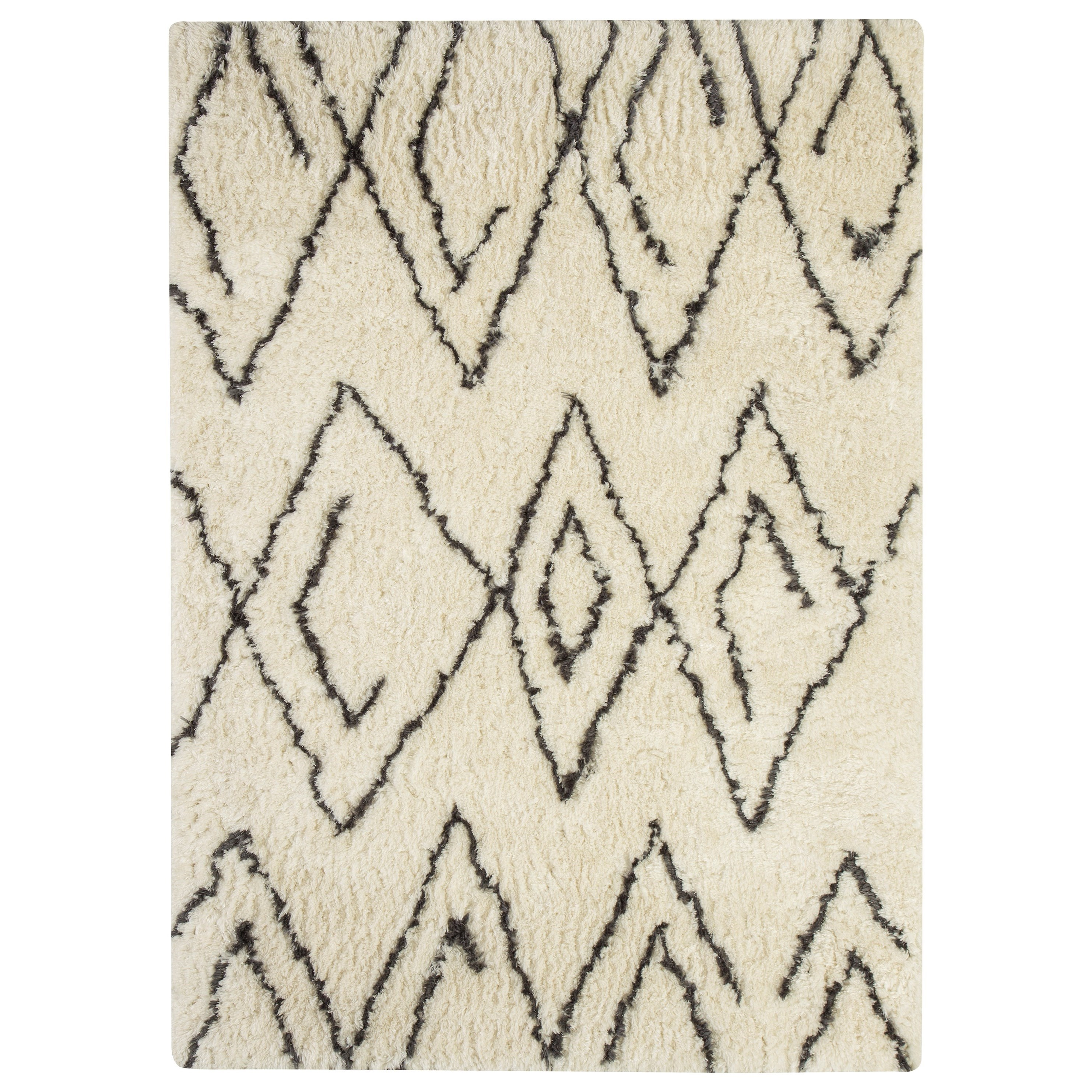 Signature Design by Ashley Contemporary Area Rugs Mevalyn White/Black Medium Rug - Item Number: R400252