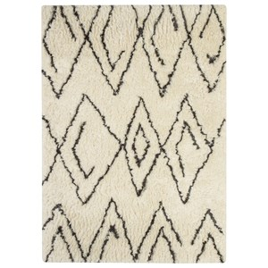 Signature Design by Ashley Contemporary Area Rugs Mevalyn White/Black Large Rug