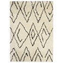 Signature Design by Ashley Contemporary Area Rugs Mevalyn White/Black Large Rug - Item Number: R400251