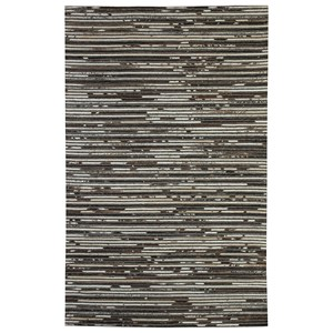 Signature Design by Ashley Contemporary Area Rugs Maddoc Dark Brown/White Medium Rug