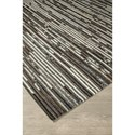 Signature Design by Ashley Contemporary Area Rugs Maddoc Dark Brown/White Large Rug