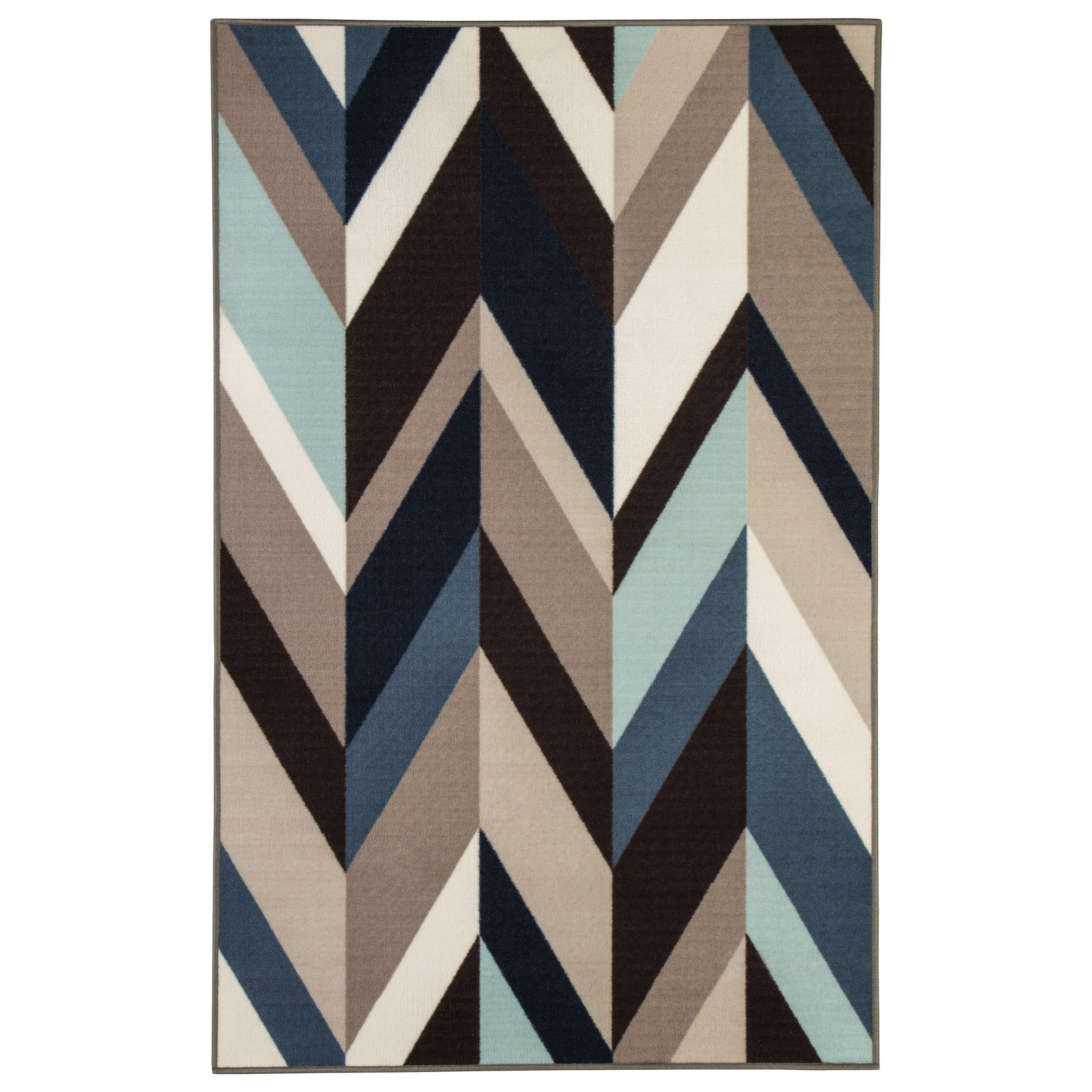 Signature Design by Ashley Contemporary Area Rugs Keelia Blue/Brown/Gray Rug - Item Number: R400482