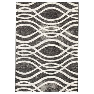 Ashley Signature Design Contemporary Area Rugs Avi Gray/White Large Rug