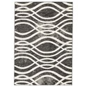 Signature Design by Ashley Contemporary Area Rugs Avi Gray/White Large Rug - Item Number: R400601