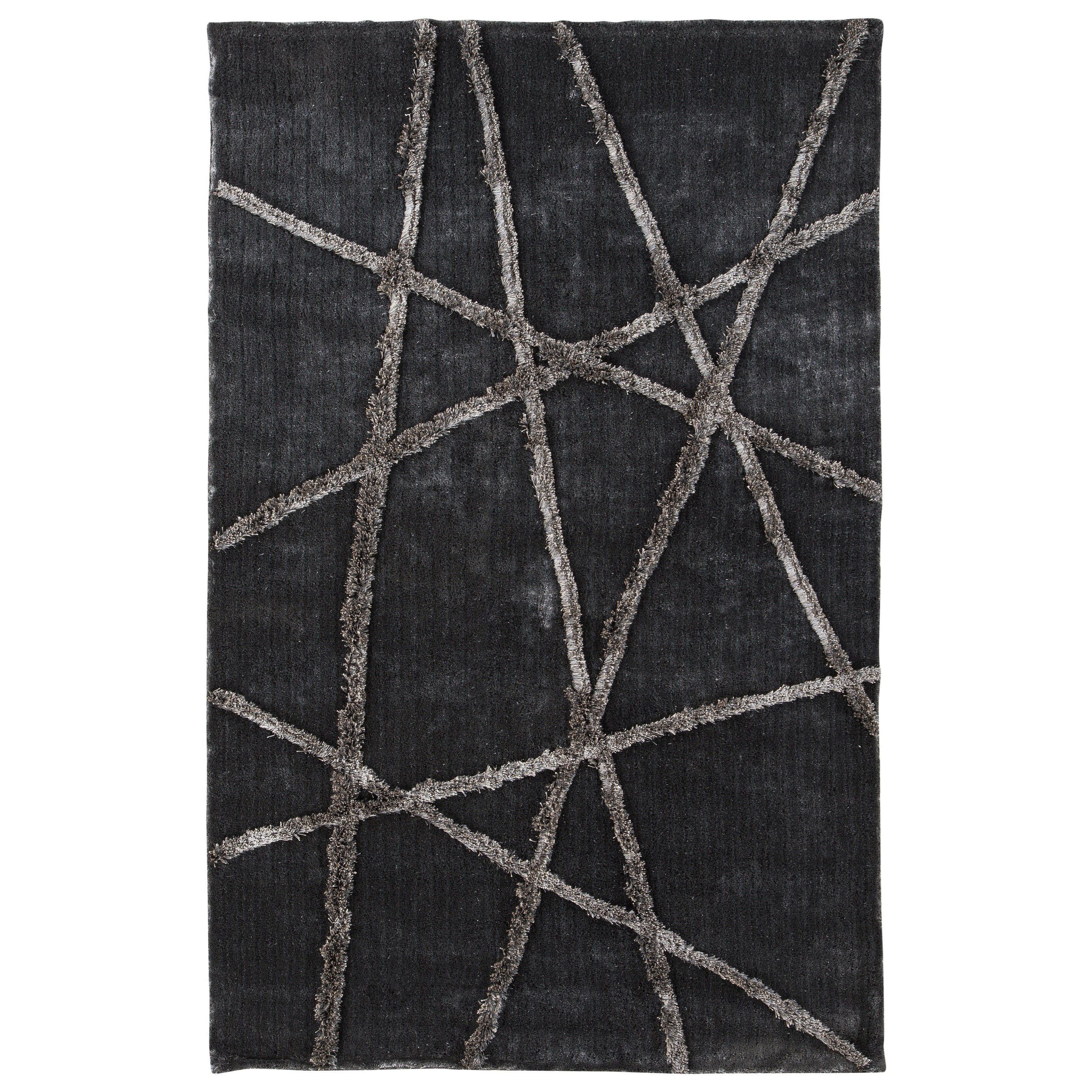 Signature Design by Ashley Contemporary Area Rugs Zorian Silver/Gray Medium Rug - Item Number: R400652