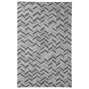 Signature Design by Ashley Contemporary Area Rugs Gareth Black/Gray Large Rug