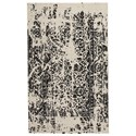 Collection # 4 Contemporary Area Rugs Jag Black/White Medium Rug - Item Number: R400742