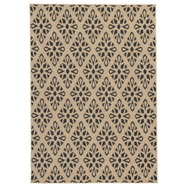 Signature Design by Ashley Contemporary Area Rugs Jerrod Black/Tan Large Rug - Item Number: R400931