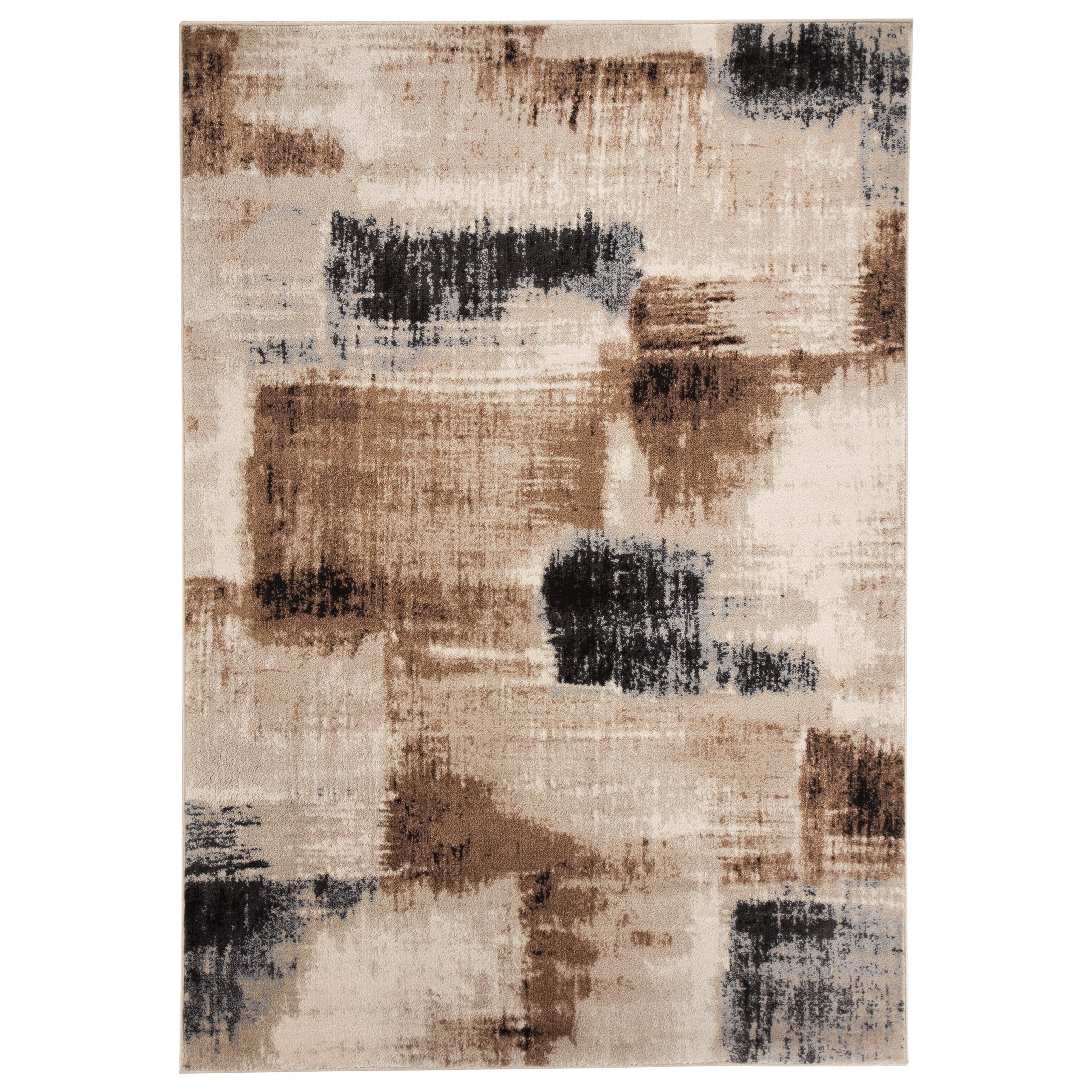 Signature Design by Ashley Contemporary Area Rugs Calvin Brown/Black Large Rug - Item Number: R401061