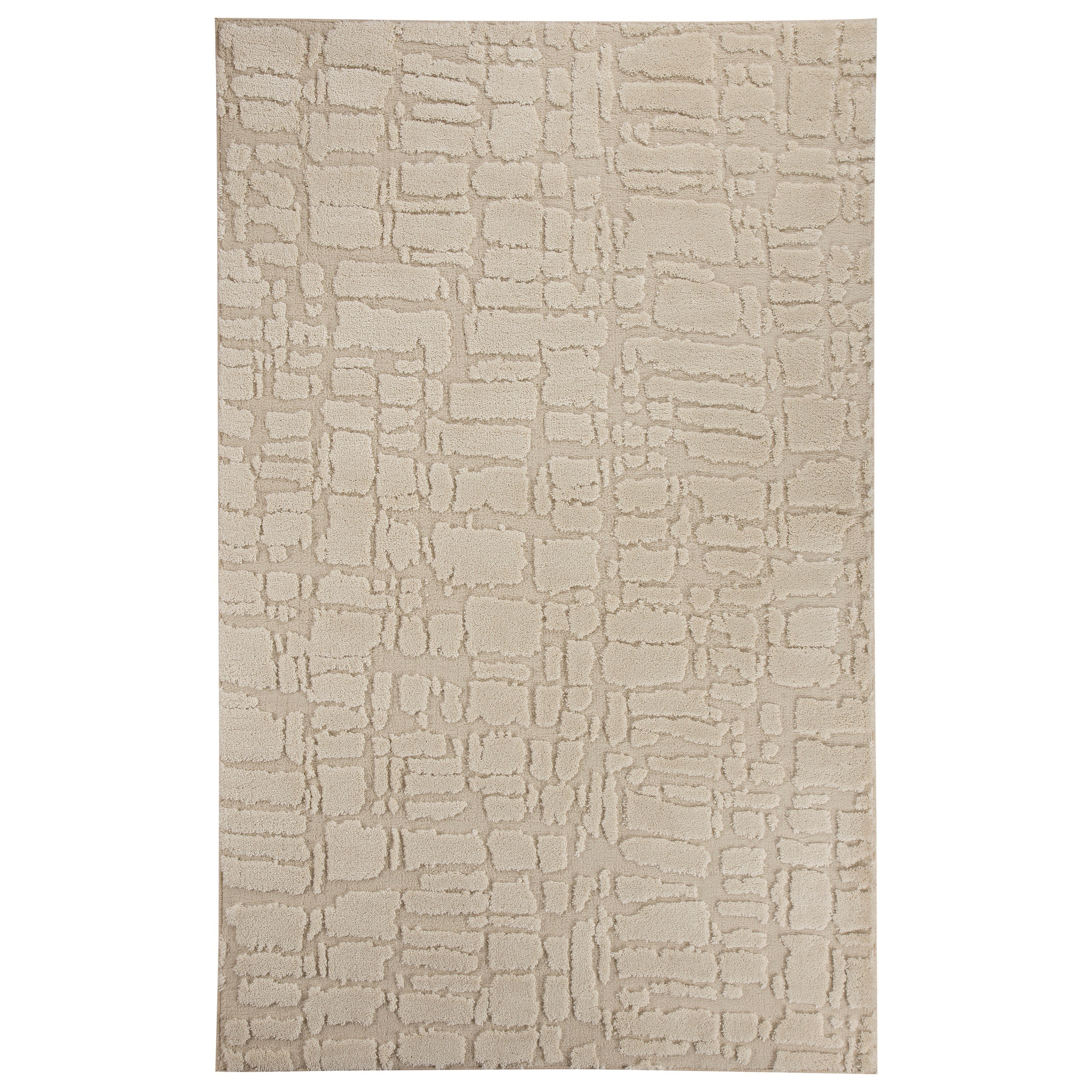Signature Design by Ashley Contemporary Area Rugs Dugan Cream/Taupe Large Rug - Item Number: R401131