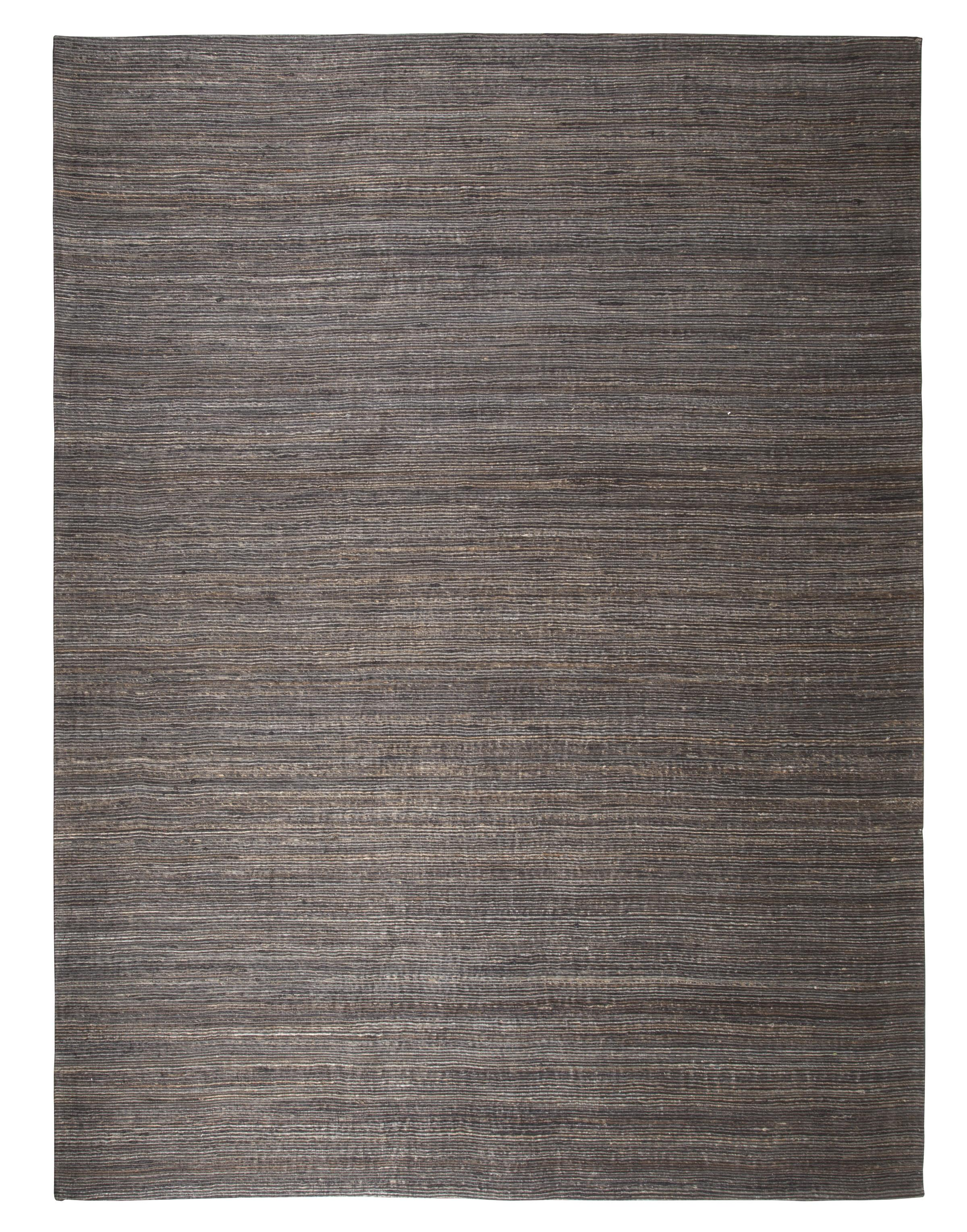 Signature Design by Ashley Contemporary Area Rugs Handwoven - Dark Gray Medium Rug - Item Number: R401412