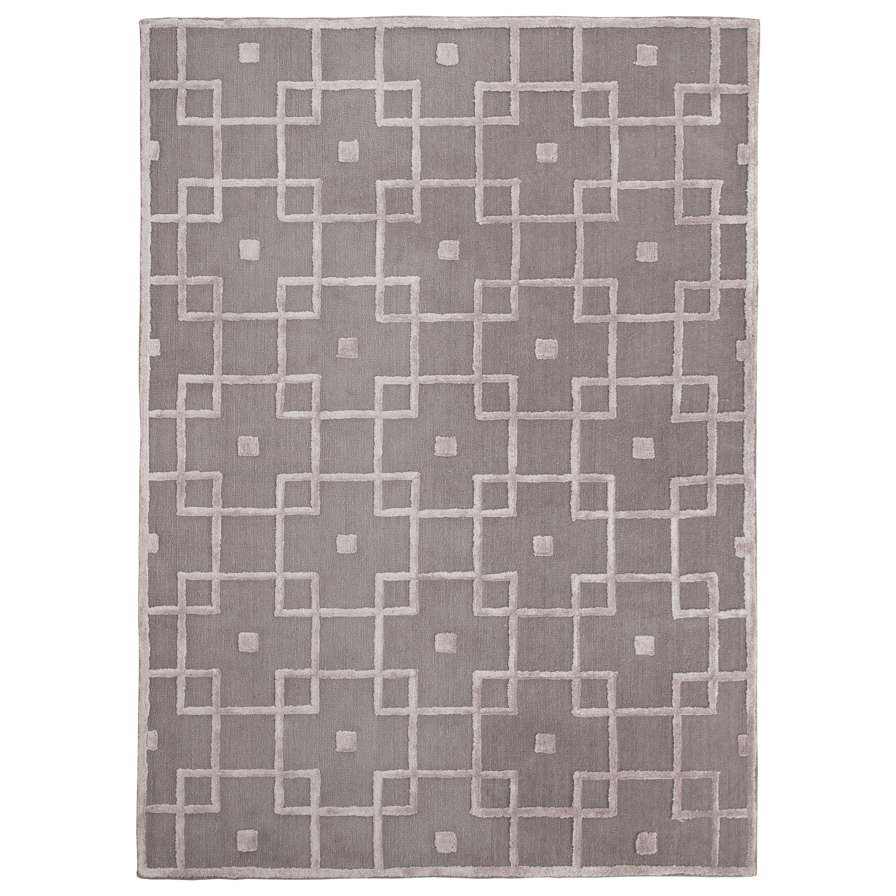 Signature Design by Ashley Contemporary Area Rugs Tyrell Gray Medium Rug - Item Number: R401432