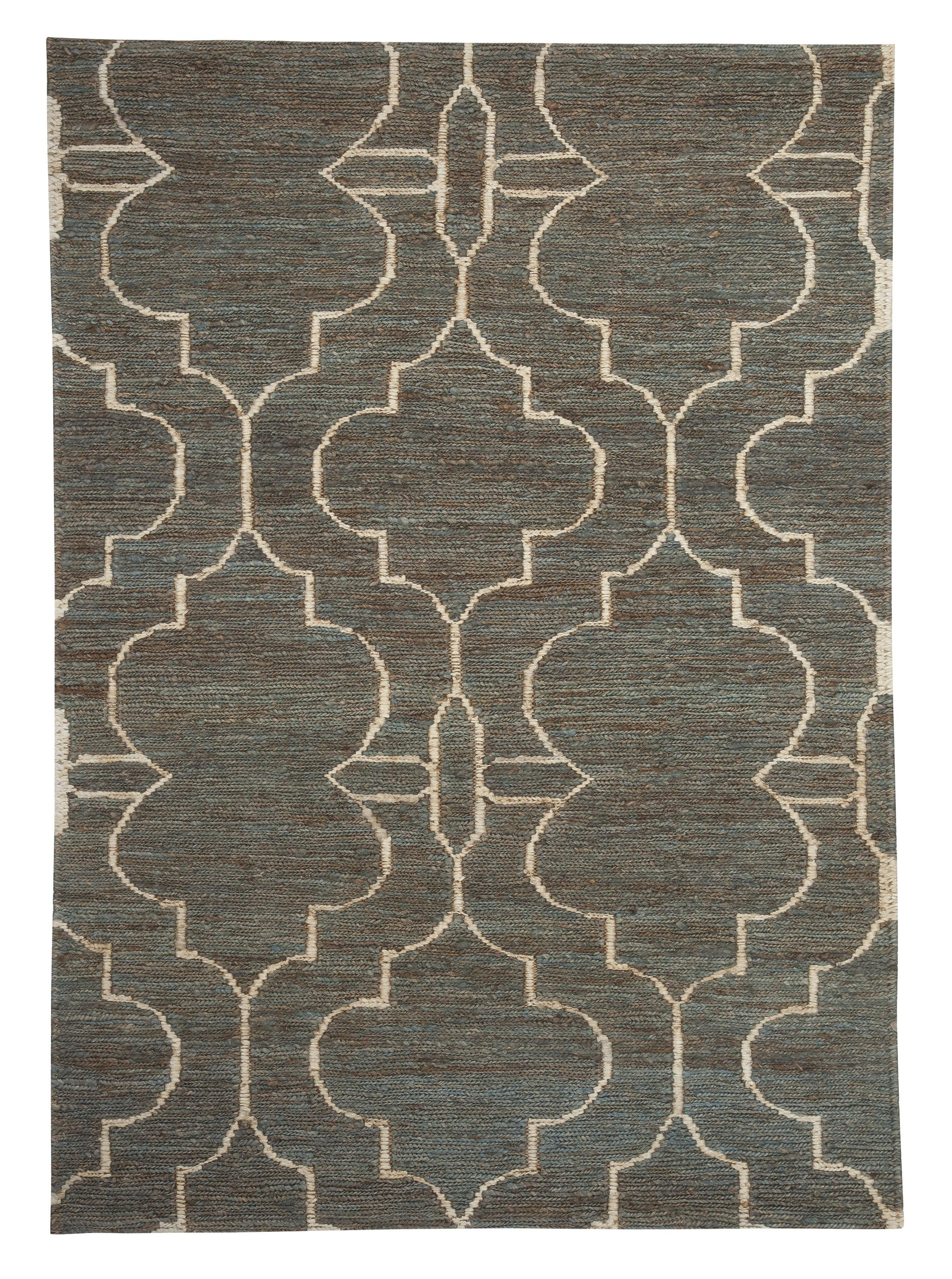 Signature Design by Ashley Contemporary Area Rugs Gillian Teal Medium Rug - Item Number: R401472