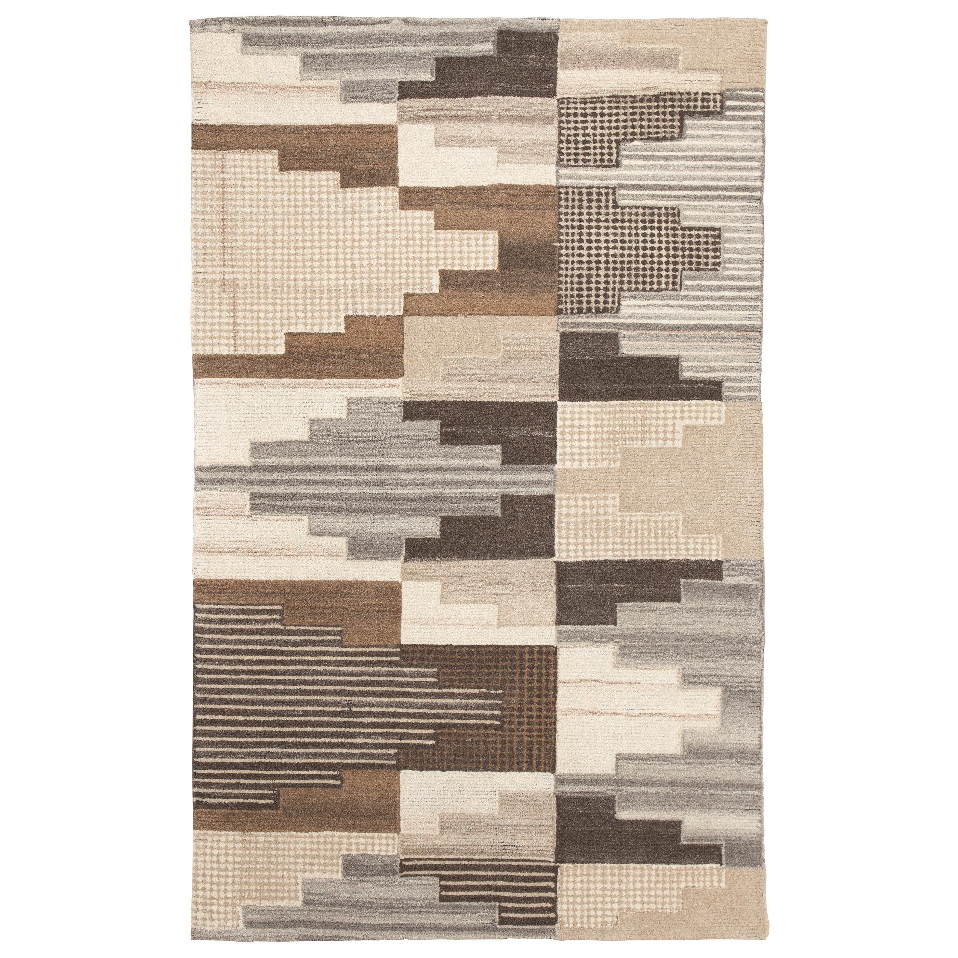 Signature Design by Ashley Contemporary Area Rugs Watnick Brown/Gray Large Rug - Item Number: R401671