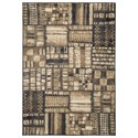 Signature Design by Ashley Contemporary Area Rugs Hilliard Black/Brown Medium Rug - Item Number: R401792