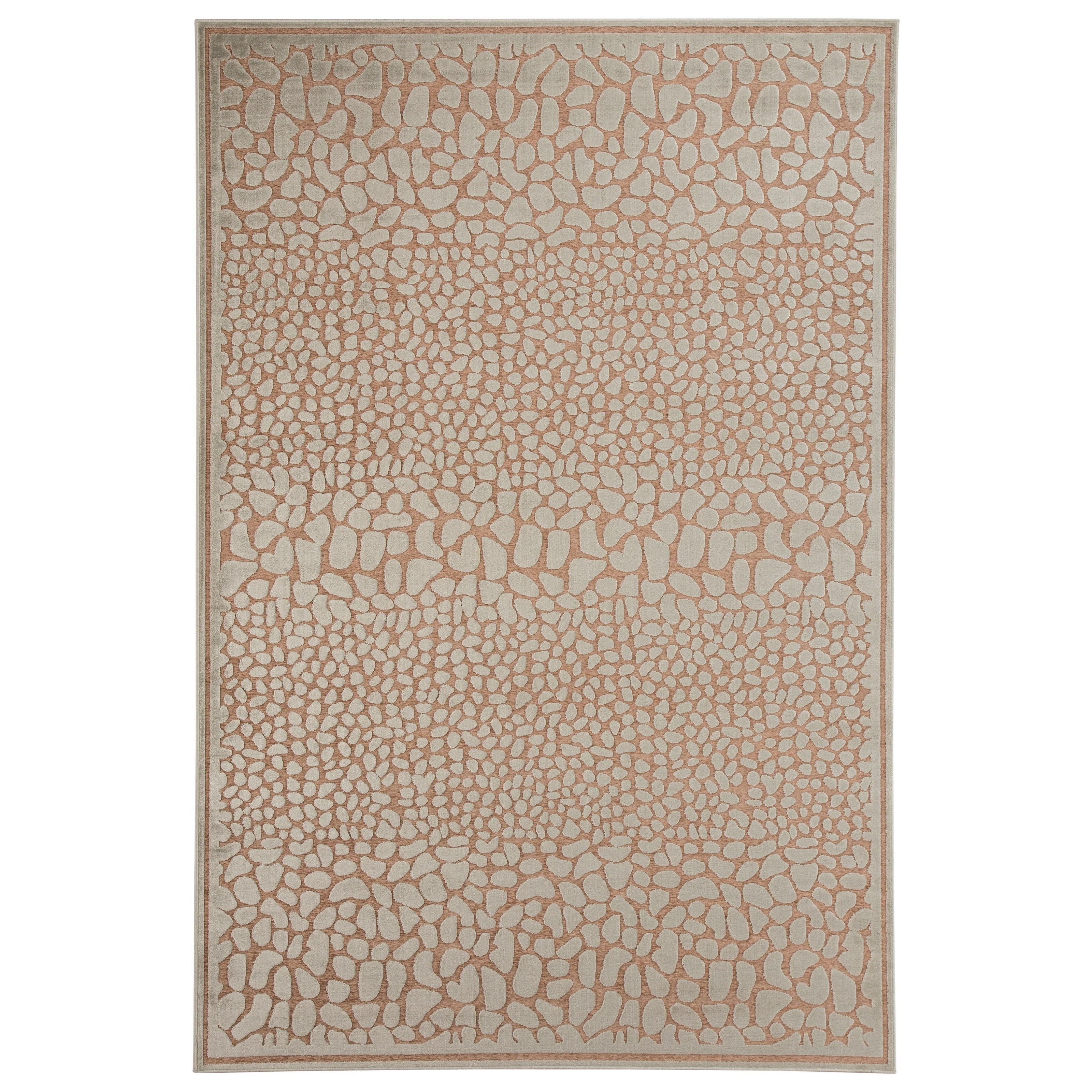 Signature Design by Ashley Contemporary Area Rugs Dallyce Ivory Medium Rug - Item Number: R401932