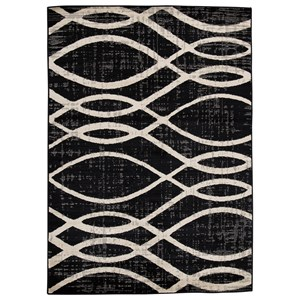 Avi Gray/White Large Rug