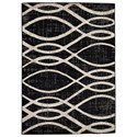 Signature Design by Ashley Contemporary Area Rugs Avi Gray/White Large Rug - Item Number: R402021