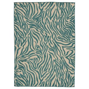 Signature Design by Ashley Contemporary Area Rugs Japheth Turquoise Large Rug