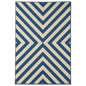 Signature Design by Ashley Contemporary Area Rugs Metrie Navy Large Rug