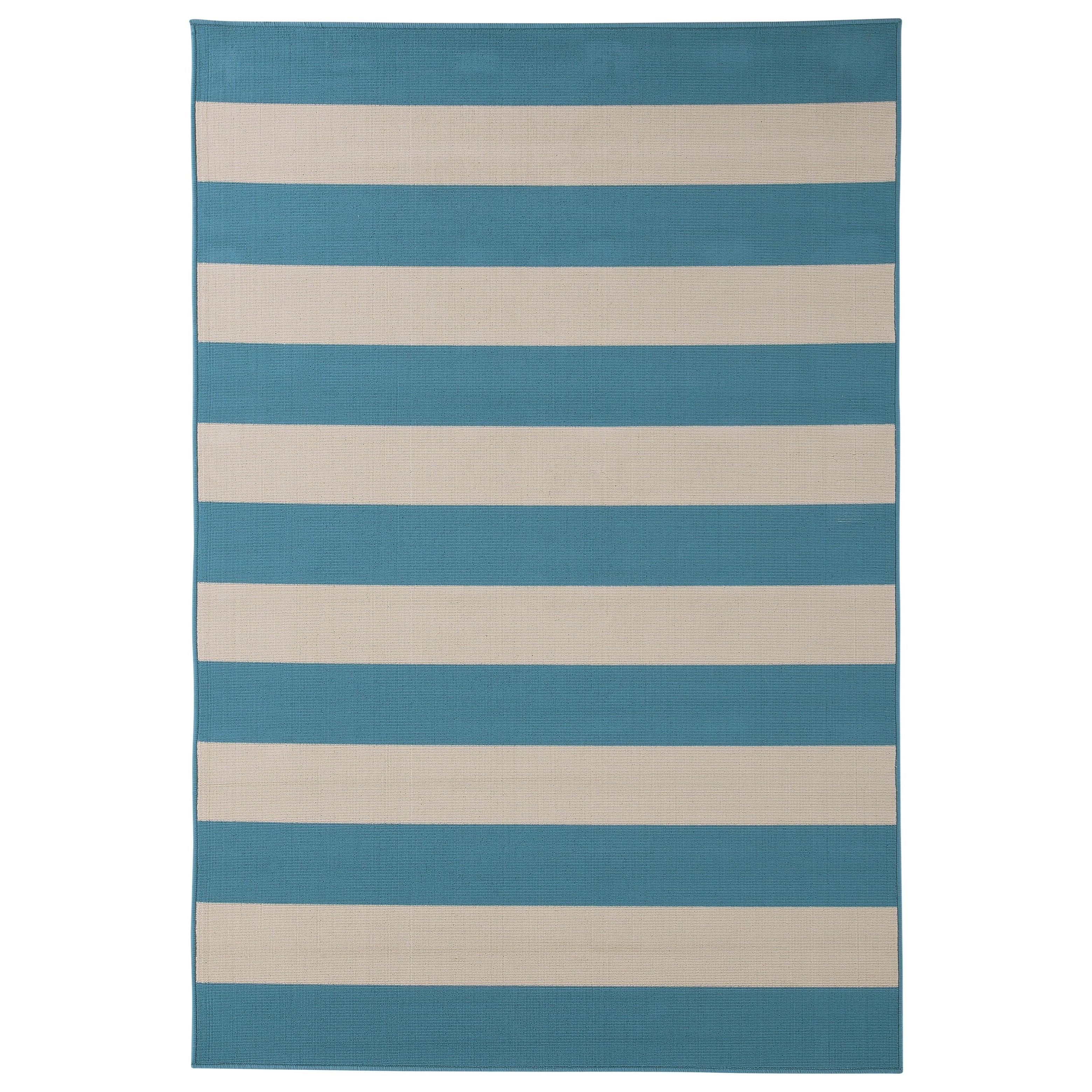 Signature Design by Ashley Contemporary Area Rugs Trentice Blue/Cream Medium Rug - Item Number: R402312