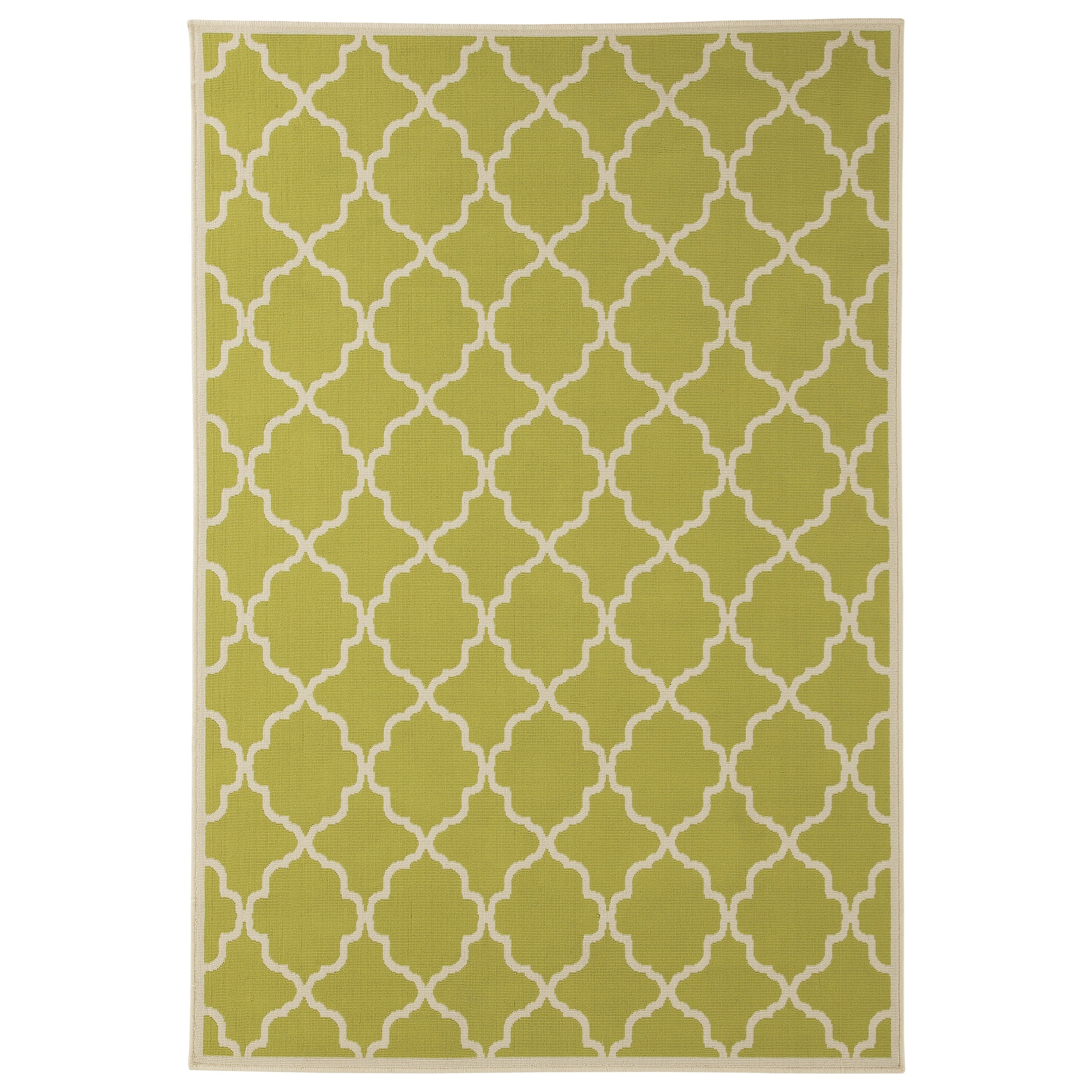 Signature Design by Ashley Contemporary Area Rugs Kerry Green/Cream Large Rug - Item Number: R402321