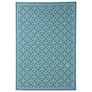 Signature Design by Ashley Contemporary Area Rugs Lindzy Blue Medium Rug