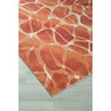 Signature Design by Ashley Contemporary Area Rugs Mauna Red/Orange Medium Rug