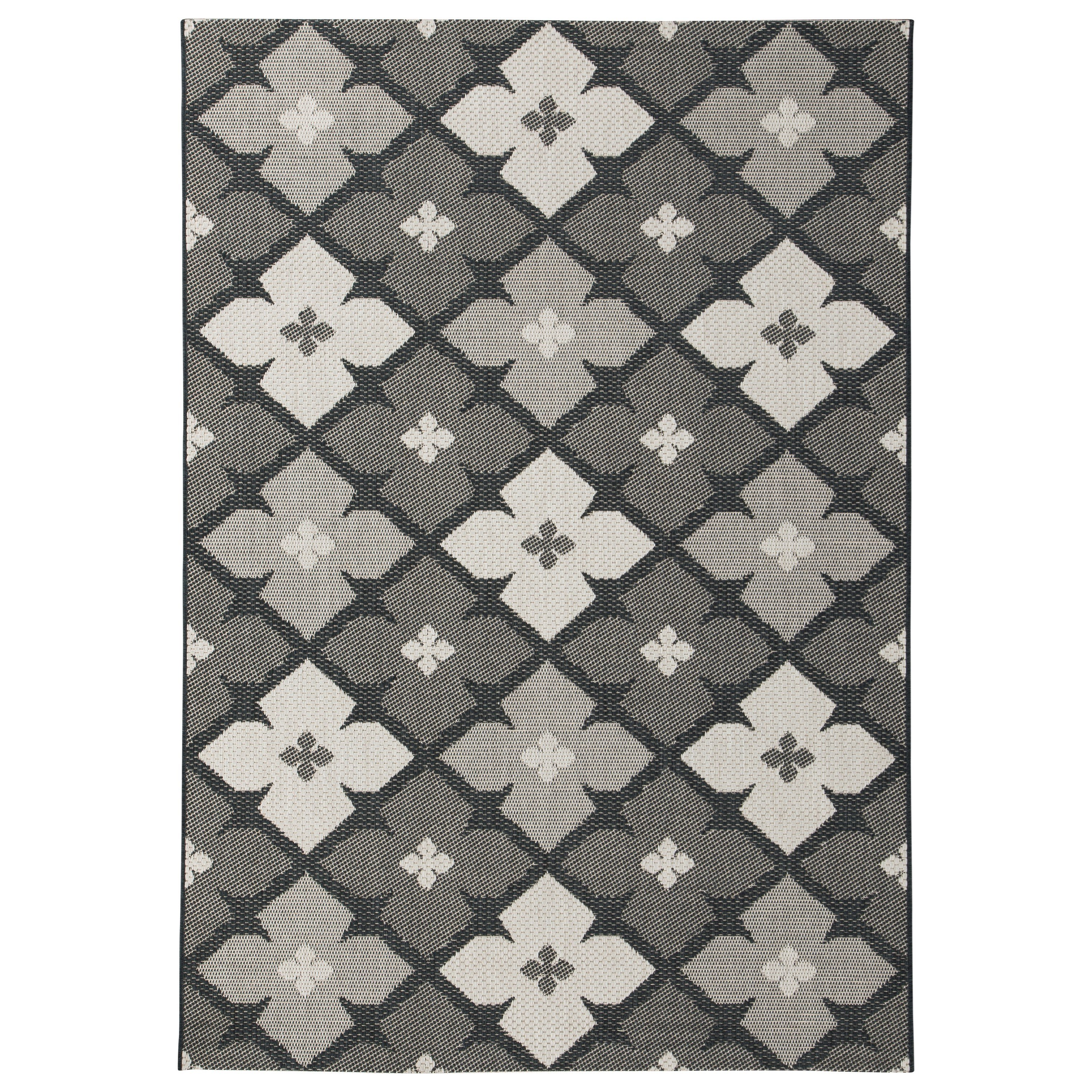 Trendz Contemporary Area Rugs Asho Black/Cream Large Rug - Item Number: R402391