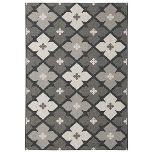Signature Design by Ashley Contemporary Area Rugs Asho Black/Cream Medium Rug