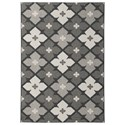 Signature Design by Ashley Contemporary Area Rugs Asho Black/Cream Large Rug - Item Number: R402391