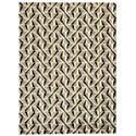 Signature Design by Ashley Contemporary Area Rugs Jaela Black/Gold/White Large Rug - Item Number: R402401