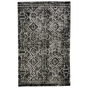 Signature Design by Ashley Contemporary Area Rugs Edmond Black/White Medium Rug