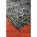 Signature Design by Ashley Contemporary Area Rugs Edmond Black/White Large Rug
