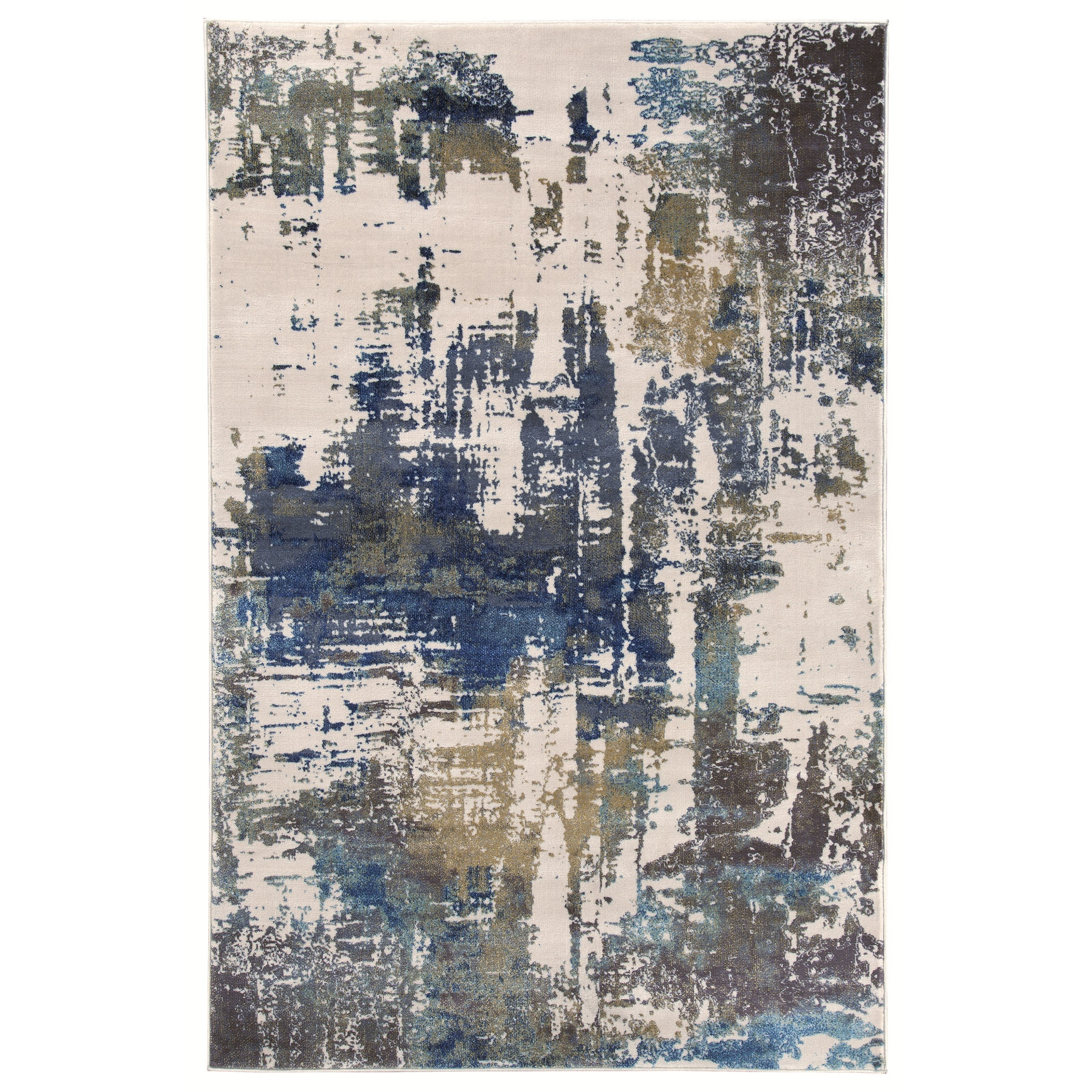 Signature Design by Ashley Contemporary Area Rugs Gabe Ivory Medium Rug - Item Number: R402512